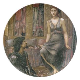 Assiette Edouard - le Roi Cophetua et la domestique de