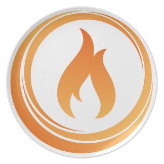 Assiette Éléments du feu