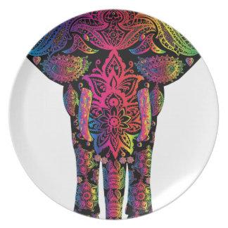 Assiette éléphant