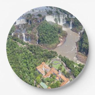Assiette en papier Chutes d'Iguazú