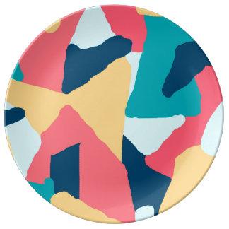 Assiette En Porcelaine Abstraction lumineuse