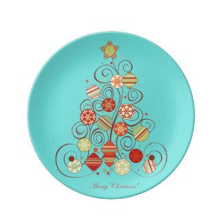Assiette En Porcelaine Arbre de Noël élégant