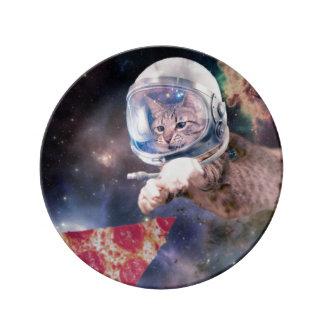 Assiette En Porcelaine astronaute de chat - chats drôles - chats dans