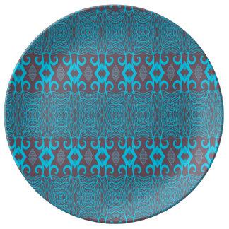 Assiette En Porcelaine bleu