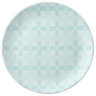 Assiette En Porcelaine Bleu de Marocco