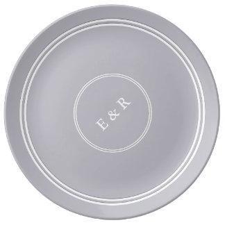 Assiette En Porcelaine Brume grise de port - mode 2018 de Londres du