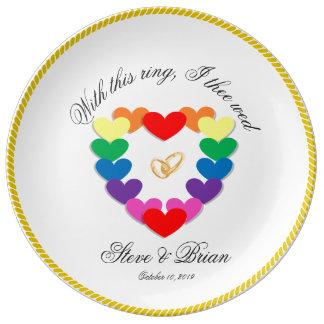 Assiette En Porcelaine Cadeaux de mariage personnalisés par lesbienne