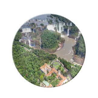 Assiette en porcelaine Chutes d'Iguazú