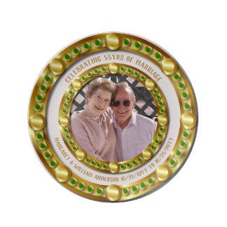 Assiette En Porcelaine cinquante-cinquième L'anniversaire de mariage