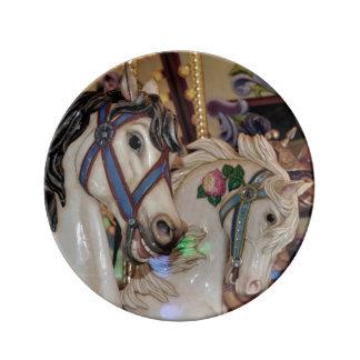 Assiette En Porcelaine Copie de chevaux de carrousel
