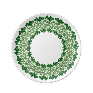 """Assiette En Porcelaine De """"lierre saladier pour toujours"""""""