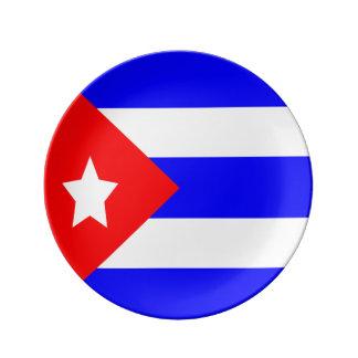 Assiette En Porcelaine Drapeau du Cuba