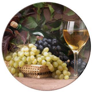 Assiette En Porcelaine Du plat décoratif fait sur commande de vignoble