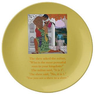 Assiette En Porcelaine Esclave à un esclave