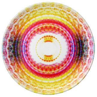 Assiette En Porcelaine Expression abstraite