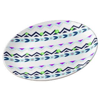 Assiette En Porcelaine Fille aztèque