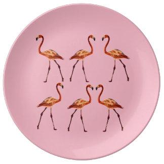 Assiette En Porcelaine Flamant décoratif de plat de porcelaine