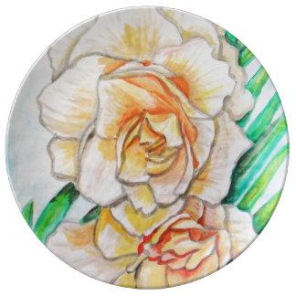 Assiette En Porcelaine Fleur de gloire