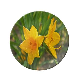 Assiette en porcelaine Fleur de Lys