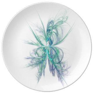 Assiette En Porcelaine Fractale d'énergie psychique