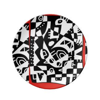 Assiette En Porcelaine Funky88 x2