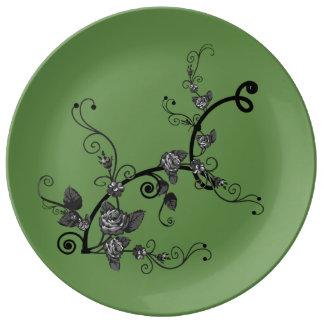 Assiette En Porcelaine Grand plat en céramique de porcelaine