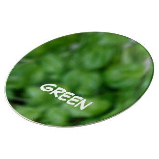 Assiette En Porcelaine Green