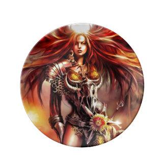 Assiette En Porcelaine Imaginaire magique et mystique