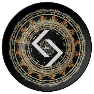 Assiette En Porcelaine ☼JERA - Rune de Time☼