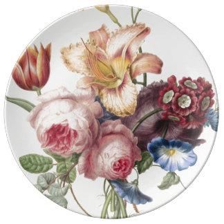 Assiette En Porcelaine Joli bouquet