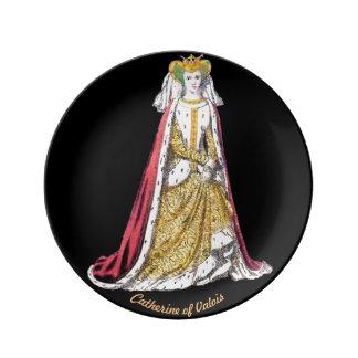 Assiette En Porcelaine Le ~ COSTUME le ~Catherine du 5ème ~ 1420~ de