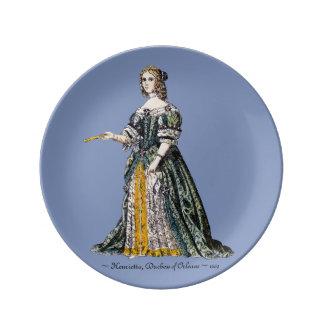 Assiette En Porcelaine Le ~ COSTUME le ~ Henrietta, duchesse du ~ 1669