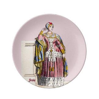Assiette En Porcelaine Le ~ COSTUME Madame de ~A de Rank~ a personnalisé