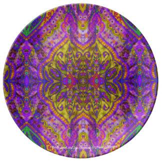 Assiette En Porcelaine Le plat indien royal de porcelaine de tapisserie