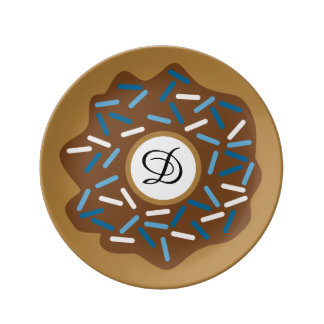 Assiette En Porcelaine Les butées toriques d'hiver avec le bleu arrose le