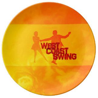 Assiette En Porcelaine L'ouest Coast swing