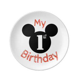 Assiette En Porcelaine Mickey a inspiré mon premier plat d'anniversaire,