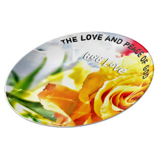 Assiette En Porcelaine Paix d'amour de Dieu