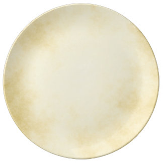 Assiette En Porcelaine Parchemin d'or grand
