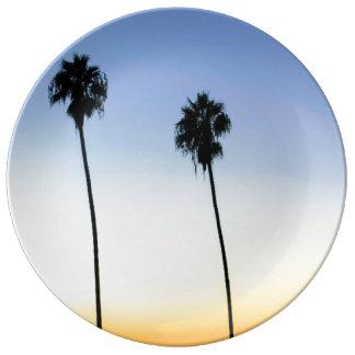 Assiette En Porcelaine Paumes de San Diego