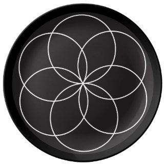 Assiette En Porcelaine Plat de fleur de tour