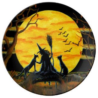 Assiette En Porcelaine Plat de partie de Halloween