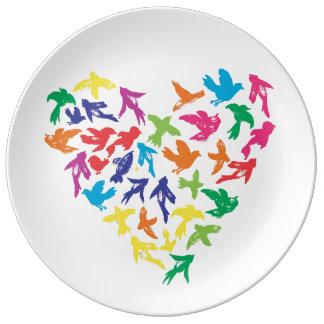 Assiette En Porcelaine Plat de porcelaine de célébration en vol -