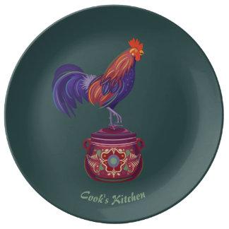 Assiette En Porcelaine Plat de porcelaine de coq