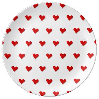 Assiette En Porcelaine Plat de porcelaine de motif d'origami de coeur