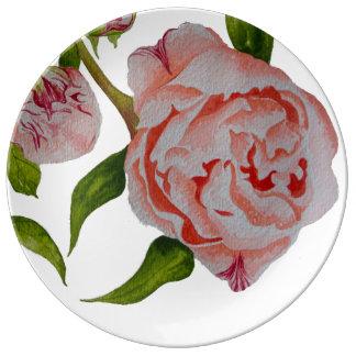 Assiette En Porcelaine Plat décoratif de bourgeonnement de porcelaine de