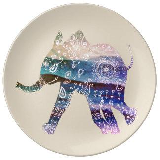 Assiette En Porcelaine Plat décoratif de porcelaine d'art de mandala