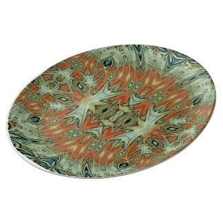 Assiette En Porcelaine Plat flamboyant de porcelaine d'étoile