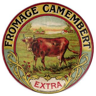 Assiette En Porcelaine Plat français vintage de porcelaine de fromage et