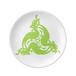 Assiette En Porcelaine Plat irlandais - plats gaéliques - plats de dîner